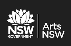 Arts NSW logo White Rev on Blk RGB1